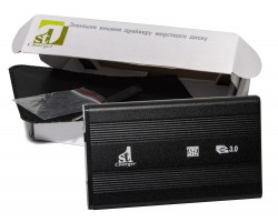Карман HDD 2.5″ 1stCharger, Black, USB 3.0, 1xSATA HDD/ SSD, питание по USB (HDE1STU2530B)