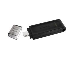 USB 3.2 Gen 1 Type-C Flash Drive 32Gb Kingston DataTraveler 70, Black (DT70/ 32GB)
