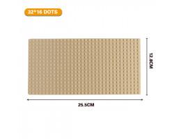 Базовая пластина для констукторов Lego 32x16 (25.5x12.7cm) Beige