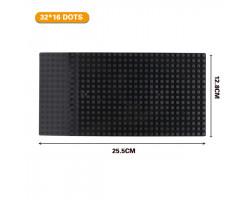 Базовая пластина для констукторов Lego 32x16 (25.5x12.7cm) Black