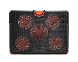 Подставка для ноутбука до 19″ Crown CMLS-133, Black/ Orange, 1x110mm, 4x85mm, 390x295x30mm