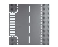 Базовая пластина для констукторов Lego Прямая дорога с поворотом 32x32 (25.5x25.5cm) Grey