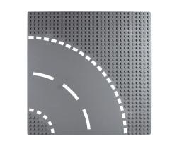 Базовая пластина для констукторов Lego Поворот дороги 32x32 (25.5x25.5cm) Grey