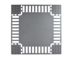 Базовая пластина для констукторов Lego Перекресток 32x32 (25.5x25.5cm) Grey