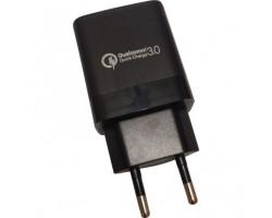Сетевое зарядное устройство ATcom CX-18 Black, 1xUSB, 5V, 3A, Quick Charge (20303)