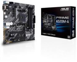 Мат.плата AM4 (A520) Asus PRIME A520M-A, A520, 4xDDR4, Int.Video(CPU), 4xSATA3, 1xM.2, 1xPCI-E 16x 3.0, 2xPCI-E 1x 3.0, ALC887, RTL8111H, 6xUSB3.2/ 6xUSB2.0, VGA/ DVI-D/ HDMI, MicroATX