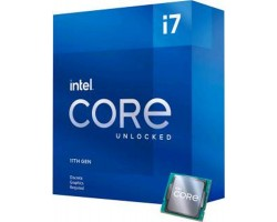 Процессор Intel Core i7 (LGA1200) i7-11700KF, Box, 8x3.6 GHz (Turbo Boost 5.0 GHz), L3 16Mb, Rocket Lake, 14 nm, TDP 125W, разблокированный множитель, система охлаждения в комплекте не идет (BX8070811700KF)