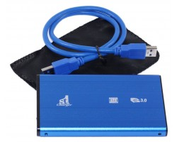 Карман HDD 2.5″ 1stCharger,  Blue, USB 3.0, 1xSATA HDD/ SSD, питание по USB (HDE1STU2530BB)