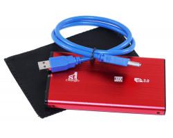 Карман HDD 2.5″ 1stCharger,  Red, USB 3.0, 1xSATA HDD/ SSD, питание по USB (HDE1STU2530BR)