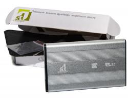 Карман HDD 2.5″  1stCharger, Silver, USB 3.0, 1xSATA HDD/ SSD, питание по USB (HDE1STU2530BS)