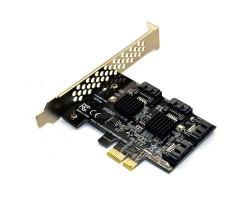 Контролер Dynamode PCI-E to 4 х SATA III (6 Гбит/ сек), 4 внутр. канала, чипсет Marvell 88SE9215