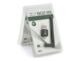 Сетевая карта USB WiFi LV-UW02-2DB,  WiFi 802.11n, 300 Мбит/ с, внешняя антенна