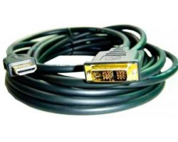Кабель HDMI > DVI 1.8m Gembird/ ATcom, 2 ferite, black, 24pin, пакет (3808)