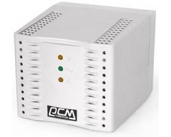 Стабилизатор Powercom TCA-3000 (белый) ступенчатый, 1500Вт, вход 220В+/ -20%, выход 220V +/ - 7%
