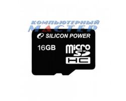 Карта памяти  SD-micro 16 Gb Silicon Power Class10 SDHC (без адаптера) SP016GBSTH010V10