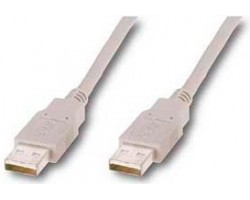 Кабель USB 2.0 - 1.8m AF/ AF Atcom, white (15647)