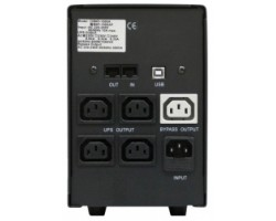 ИБП PowerCom BNT-1500AP 1500ВА, USB, Line-Interactive, 3 ступ AVR, диапазон 155-275В, защита RJ45