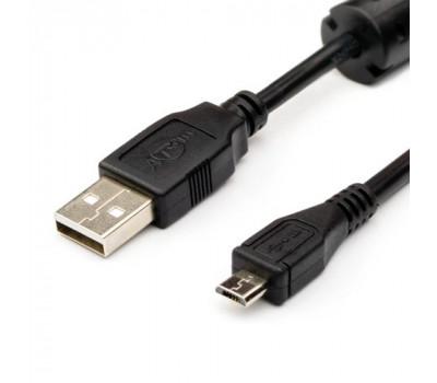 Кабель USB 2.0 AM/ micro-B 0.8m Atcom 5Pin Black