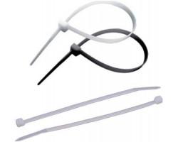 Стяжки для кабеля, 200 мм х 2,5 мм, 100 шт, White (9176)