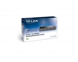 Коммутатор 24 портов TP-LINK TL-SF1024D 10/ 100 Mb, metal, Rack
