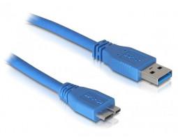 Кабель USB 3.0 - 0.8m AM/ micro-B Atcom, blue (12825)