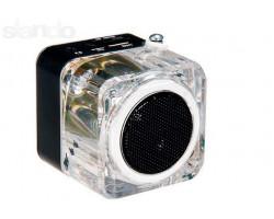 Акустика портативная DEX CR103 black (FM, часы, кабель аудио/ microUSB, зарядное 5V 1A)