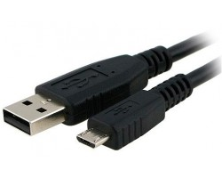 Кабель USB 2.0 - 1.8m AM/ micro-B (5 pin), Atcom, Black (9175)