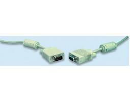 Кабель VGA 3.0m Cablexpert CC-PPVGA-10 (2 феррита, HD15M/ HD15M) чёрный