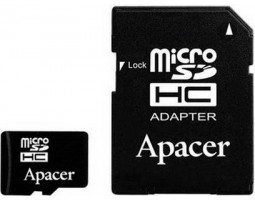Карта памяти  SD-micro 32 Gb Apacer UHS-I Class10 /  SD адаптер /  AP32GMCSH10U1-R