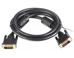 Кабель DVI > DVI 1.8m DVI-D 24/ 24 dual link, gold-plated connectors, black