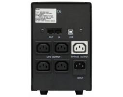 ИБП PowerCom BNT-2000AP 2000ВА, USB, Line-Interactive, 3 ступ AVR, диапазон 155-275В, защита RJ45