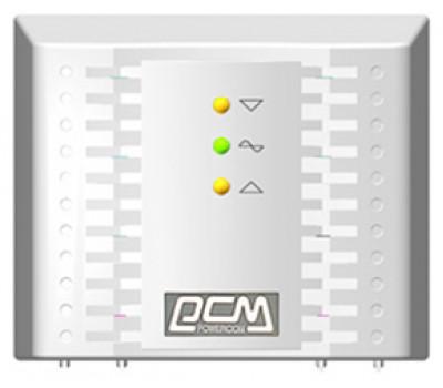 Стабилизатор Powercom TCA-1200 черный, ступенчатый, 600Вт