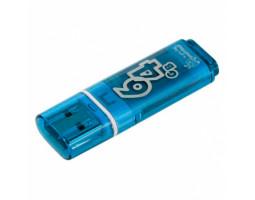 USB Flash Drive 64Gb Smartbuy Glossy series Blue /  SB64GBGS-B