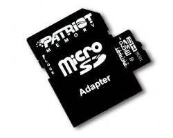 Карта памяти SDHC-micro 16Gb Patriot Class10 UHS-I SD адаптер (PSF16GMCSDHC10)