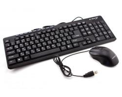 Комплект HI-RALI HI-KB2017CM USB Black (клавиатура+мышь)