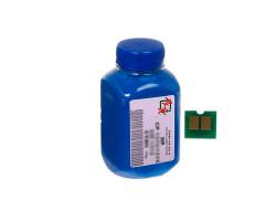 Тонер + чип HP CLJ CP1025, Cyan, АНК (1500124)