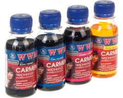 Комплект чернил WWM Canon Carmen Black, Cyan, Magenta, Yellow, 100 мл (CARMEN/ SET.4-2)