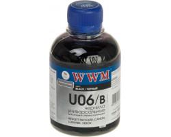 Чернила универсальные WWM Canon/ HP/ Lexmark/ Xerox, Black, 200 г (U06/ B)