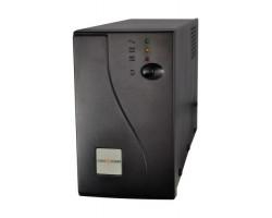 ИБП LogicPower 850VA 850ВА 2 розетки, 5 ступ. AVR, 7.5Ач12В, черный металлический корпус
