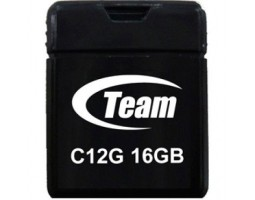USB Flash Drive 16Gb Team C12G Black /  TC12G16GB01