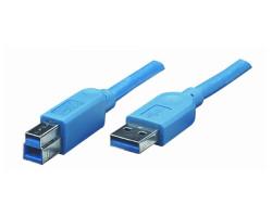 Кабель USB 3.0 - 1.8m AM/ BM ATcom, blue (12823)