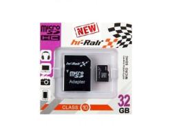 Карта памяти SD-micro 32Gb Hi-Rali Class10 без адаптера (HI-32GBSDCL10-00)