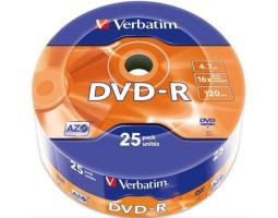 DVD-R Verbatim, 4.7Gb, 16x, Wrap (43788)