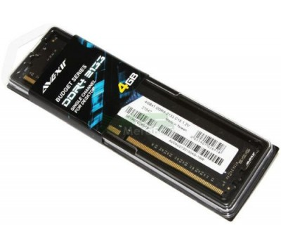 DDR4 4Gb 2400 MHz, Avexir Core Original, 16-16-16, 1.2V, (AVD4U24001604G-1BW)