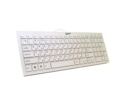 Клавиатура Extradigital ED-K101, White, USB, лазерная гравировка, ножничный механизм