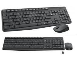 Комплект Logitech Wireless Desktop MK235 черная USB (радио, клавиатура+оптическая мышь) (920-007948)