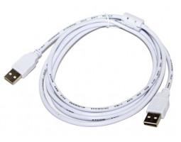 Кабель USB 2.0 AM/ BM 3.0m Atcom (феррит, белый)