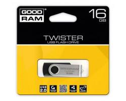 USB Flash Drive 16Gb Goodram Twister Black /  UTS2-0160K0R11