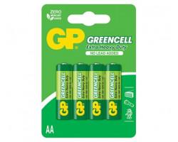 Батарейкa LR6 (AA) GP Greencell, солевая, 1.5V, Shrink (GP15GEB-2S2)