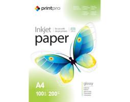 Фотобумага А4 200g/ m PrintPro глянец (PGE200100A4) 1лист